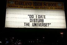 disturb the universe