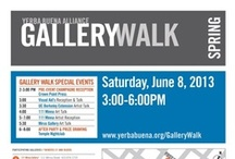 Gallery Walk: Yerba Buena Alliance  / The Yerba Buena is home to over 15 galleries who participate in the bi-annual Gallery Walk.  www.ybgallerywalk.wordpress.com