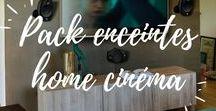 """Pack enceintes Home Cinéma / Pack d'enceintes, enceintes """"Centrale"""", enceinte """"Surround"""", caissons de basse... Toutes les enceintes pour constituer un système Home cinéma digne de ce nom en 2.1, 5.1, 5.0 et bien plus ! Faites vibrer la bande son de vos films préférés dans les formats audio surround les plus prestigieux."""