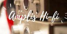 Amplis Hi-Fi (Haute-fidélité) / L'Amplificateur Hi-fi permet d'alimenter votre paire d'enceintes haute-fidélité. Un ampli stéréo de qualité est spécialement conçu pour l'écoute de Musique sur 2 canaux et offre une restitution du son optimale en clarté, précision, réalisme. Il doit cependant être associé à des enceintes et à des sources adéquates (Lecteurs CD, platines disques, DAC audio performants). Il existe différents types d'amplification (class A, B, AB ou D, amplis à tubes, etc ) pour différents usages.