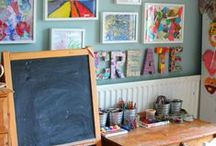 Learning Spaces / Playing and learning spaces for kids! Inspiration for our family's homeschooling room...