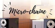 Micro-Chaînes (Micro System) / La Micro-chaine Hifi est une solution compacte, qui condense en un seul bloc lecteur CD, Tuner FM et d'autres équipements optionnels (USB, dock iPhone, lecteur réseau, sortie pour caisson de grave, etc). La micro-chaine vous garantit une intégration réussie dans votre intérieur.