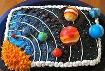 Celebrate: Space Tea Party Birthday / Planning a space / galaxy / solar system / astronomy / tea party / birthday celebration for kids