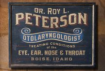 Vintage signs