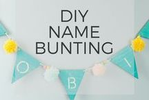 Bunting / Name Bunting. Make beautiful and unique keepsakes for your baby from Mum-Made.