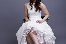 1950s inspired tea length wedding dress