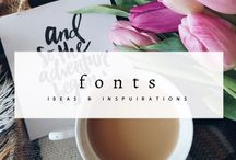 Font / Collection of free font, as well as stylish and beautiful font inspirations, font collections, font for business