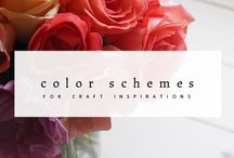 Color Palette for Craft Inspiration / Color Palette for Craft Inspiration. Color scheme for crafting, designing and inspirations.