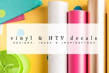 Vinyl & HTV Projects / Collections of Vinyl & HTV decal ideas, inspirations & designs. This board is to get inspired and ideas for next Cricut / Cameo Silhouette projects with Vinyl sticker or HTV to decorate your DIY projects.