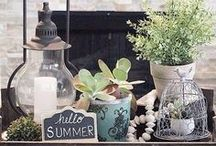 Summer / Decorating ideas for Summer.  DIY projects, crafts, mantels, nautical/beach decor and more.