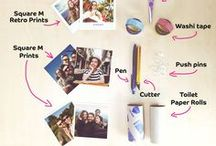 DIY Photo Stand using Toilet Paper Roll | Printiki / This DIY project is very fun and easy to make! We will show you how to create different photo stands using toilet paper rolls. They are perfect to display your photo prints square M and a great way to recycle toilet paper rolls. Get your creative juices flowing and play with colors and customization.