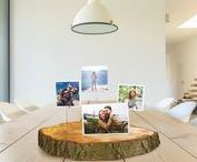 DIY Wood Block Photo Stand   Printiki / Make a DIY Wood Block Photo Stand with Printiki! Super easy to make and you only need a few supplies, and you are good to go! This DIY photo holder is perfect to hold many photos and lovely to decorate as a centerpiece or on a side table.