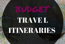 BUDGET TRAVEL ITINERARIES / A board to help you plan your next vacation or getaway. These itineraries are here to inspire you to travel to more destinations and tick off your bucket list. Template, planner, spreadsheet, Europe, Asia, Australia, USA, Japan, map, inspiration, world, ideas, Thailand, New Zealand, India, Spain, England, Vietnam.