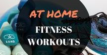 AT HOME FITNESS WORKOUTS / These budget fitness tips and workouts will help you lose weight and get fit and healthy. Goals, inspo, for beginners, challenges, weightloss, summer body, liftings, abs, thighs, booties, arms, routines.