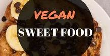 VEGAN SWEET FOOD / Anything to do with vegan sweet food or desserts. You'll find vegan dessert recipes, easy recipes, healthy vegan recipes, raw desserts, and vegan treats.