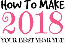 2018 / 2018 | New Year | Goals | Challenges | Resolution