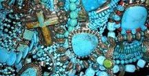 Tease me withTurquoise***! / I don't think there's anyone that doesn't love turquoise.You can dress up or dress down with it.Each piece of jewelry is different and each stone is unique.A true work of art.