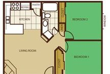 MVVA Floorplans / Floorplans of the apartments we offer-- studio, one or two bedroom.