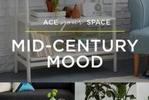 Ace Your Space: Mid-Century Mood / Got a thing for vintage? Feel like you were born in the wrong era? The tapered legs and sleek lines of our Mid-Century furniture will make you feel like you've gone back in time, with style!