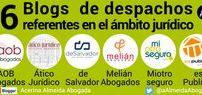 6 Blogs de despachos referentes en el ámbito jurídico. / Forman parte del ranking de blogs más seguidos de España, según datos de Alexa (ver mis anteriores post 10 Blogs jurídicos que más suben - Tendencia y 25 Blogs jurídicos más visitados - Ranking).