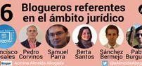 6 Blogueros referentes en el ámbito jurídico. / Son del grupo de blogueros más seguidos de España, según datos de Alexa, (ver mi anteriores post 10 Blogs jurídicos que más suben - Tendencia y 25 Blogs jurídicos más visitados - Ranking) pero a mi entender su contribución va mucho más allá.