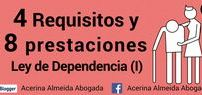 """4 Requisitos y 8 prestaciones – Ley de Dependencia I / Tal y como establece la Ley 39/2006, de 14 de diciembre  de promoción de la autonomía personal y atención a las personas en situación de dependencia:    """"el estado de carácter permanente en que se encuentran las personas que, por razones de edad, enfermedad o discapacidad, y ligadas a la pérdida de autonomía física, mental, intelectual o sensorial, precisan de la atención de otra u otras personas... http://acerinaalmeidaabogada.blogspot.com.es/2016/09/4-requisitos-y-8-de-prestaciones-ley-de.html"""