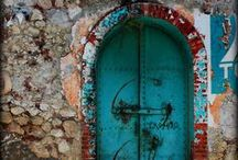 DOORS 3: Teal,turquoise and blue / by Jeanette