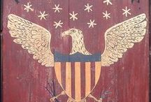 Americana Prims / I kinda have an Americana theme going upstairs and I am thinking it will be fun making and finding things to decorate this style. Pinterest sure gives you a lot things to look at in the American line.  GOD BLESS AMERICA! / by Gwenandchuck Milledge