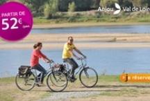 Vélo / bike Val de Loire / Découvrez La Loire à Vélo en Anjou et ses autres itinéraires : la Vélo Francette, chemin de halage de la Mayenne, le Thouet à vélo, l'Authion à vélo, les boucles en Touraine Angevine, etc.