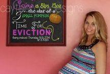 Pregnancy Chalkboards / www.cayteerosedesigns.etsy.com