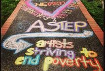 """ASTEP Student Chapters / As ASTEP has grown, the number one question we get asked by students is, """"How can we carry out the ASTEP mission in our own communities?""""  That's why ASTEP is connecting with like-minded high school and college students around the country, empowering them to share our mission of using the arts to transform children's lives."""
