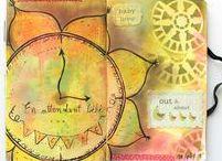 Inspiration Artjournal / Idées de pages et conseils pour tenir un art journal