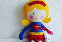 Handmade Dolls, Plush, Ragdoll, Superheros, Customized, Soft Doll / Handmade plush dolls for children of all ages.