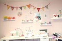 Nähplätze Sewing room Ideas / Arbeitsplätze und Nähzimmer