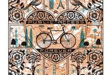 Bicycle Art / Pieces of art that any bicycle lover would enjoy! From old pieces to new, these would look great in any bike enthusiasts' home or office!