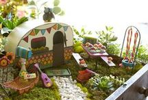 """Miniature Gardens / Pictures of my """"Gypsy Garden"""" collection with Studio M, as well as Mini / Fairy Garden ideas that I like :)"""