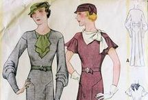 1930s Sewing Patterns / Design inspiration from 30s style