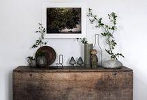 Garden & Home:  Vignettes / Home decorating details.