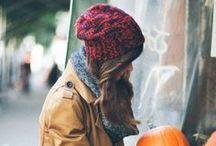 Crisp Pumpkin-Filled Air / - Comfy knits & chunky scarves -
