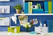 studio/office / craft room decor, studio decor, office decor, creative workspace