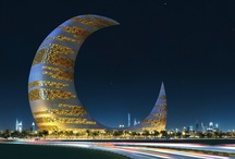 Dubai: Crescent Moon Tower / The Crescent Moon Tower is the architectural design project submitted to the 11th ThyssenKrup Elevator Architecture Award by the California-based firm Transparence House. First it boldly identifies Dubai as part of the Islamic world, and second, because of the technical difficulty of building such a structure, it proclaims Dubai's advanced level of technical and economic development. The Crescent Moon Tower is designed to accommodate a children's library. / by I Love Dubai