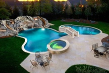 Hot Tubs and Pools / Hot tubs and pools go together so beautifully for great outdoors living. Here are some great pool ideas to go with your Hot Spring or Caldera Hot Tub. http://ihtspas.com/spas.php
