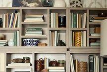 - bookshelves -