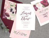 wedding invitations / Wedding invitation suites, wedding stationery, rustic wedding invitations, floral wedding invitations