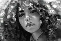 Mel Milton / Beautiful people drawn beautifully