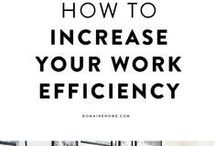 Increase Productivity / Learn tips and get access to valuable resources that will teach you how to work more efficiently. The more efficient you are, the more productive you can be! The more productive you are, the more income you are able to generate!