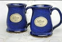 Wedding Bridal Party Gifts / Finding the perfect Wedding Bridal Party Gifts is easy with Sunset Hill Stoneware. Beautiful and enduring stoneware mugs and steins in a variety of different styles and colors, in stock and ready to ship. Or create your own set to match your wedding theme. Handmade in America. Dishwasher, microwave and oven safe. Lead-free.