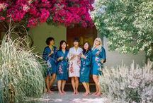 wedding robes / One of the most memorable time of a wedding day, your alone time with your closest friends