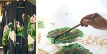 production - behind the scenes / What do you think it takes to create a kimono robe? We'd love to share with you!