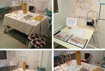 Expo-ventes / Expo-ventes réalisées par La Chouette Echoppe, ou inspiration pour les stands...  Ventes éphémères, scénographie, merchandising.